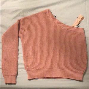 One shoulder 100% Cotten Sweater Brand New